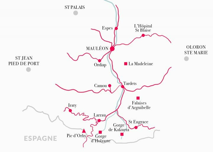 Carte de la Soule en France
