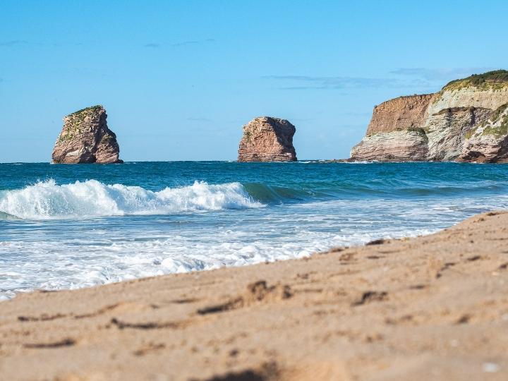 Deux jumeaux à Hendaye, les plus belles plages du Sud Ouest de la France