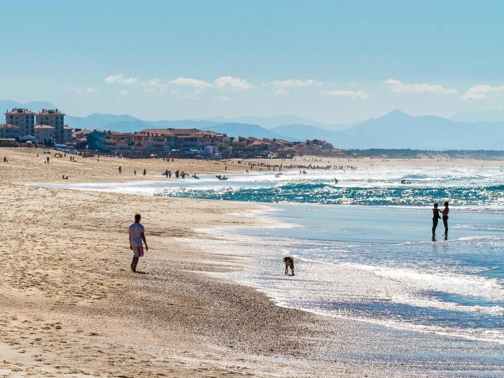 Hossegor, plus belles plages des landes, sud-ouest de la France