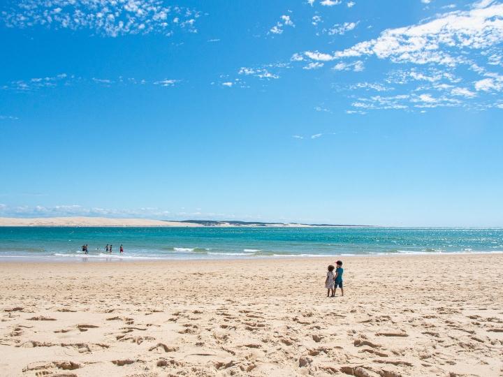 Le pointe Cap Ferret, plus belles plages de Gironde, sud-ouest de la France