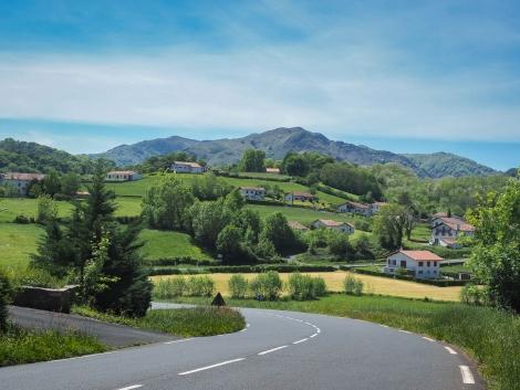 Paysage au Pays basque, sud ouest de la France